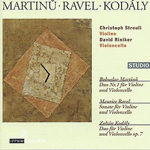 CD-Cover: Martinu, Ravel, Kodaly